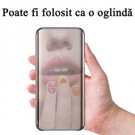 Husa Telefon Samsung Galaxy A12 - Flip Mirror Stand Clear View  - 9