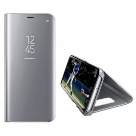 Husa Telefon Samsung Galaxy A12 - Flip Mirror Stand Clear View  - 3