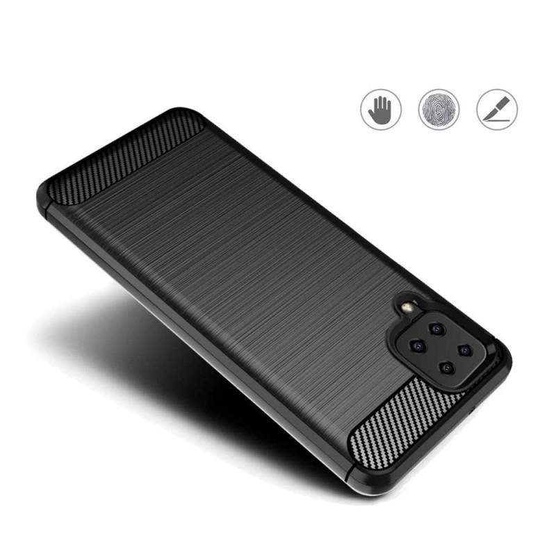 Husa Tpu Carbon Fibre pentru Samsung Galaxy A12, Neagra