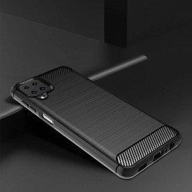 Husa Tpu Carbon Fibre pentru Samsung Galaxy A12, Neagra  - 4
