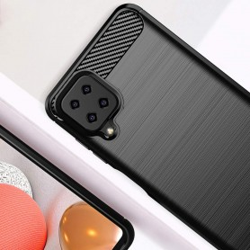 Husa Tpu Carbon Fibre pentru Samsung Galaxy A12, Neagra  - 3