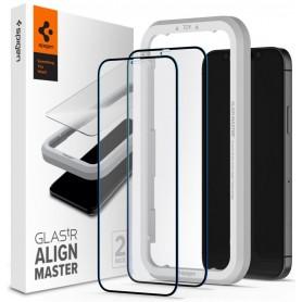 Folie Protectie Ecran pentru iPhone 12 Pro Max - Spigen Alm Glass Fc, 2 Bucati Spigen - 1