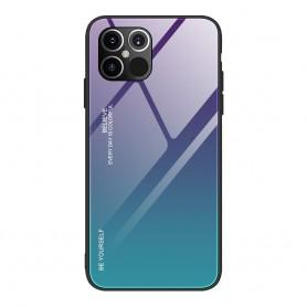 Husa iPhone 12 Pro Max - Gradient Glass, Albastru inchis cu Albastru deschis  - 1