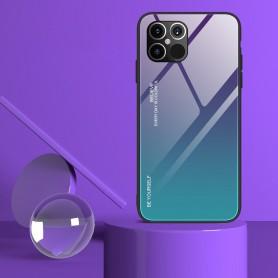 Husa iPhone 12 Pro Max - Gradient Glass, Albastru inchis cu Albastru deschis  - 2