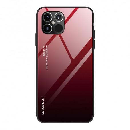 Husa iPhone 12 Pro Max - Gradient Glass, Negru cu Rosu la pret imbatabile de 40,99lei , intra pe PrimeShop.ro.ro si convinge-te singur