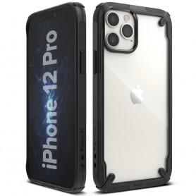 Husa iPhone 12 / iPhone 12 Pro - Ringke Fusion X, Neagra Ringke - 1