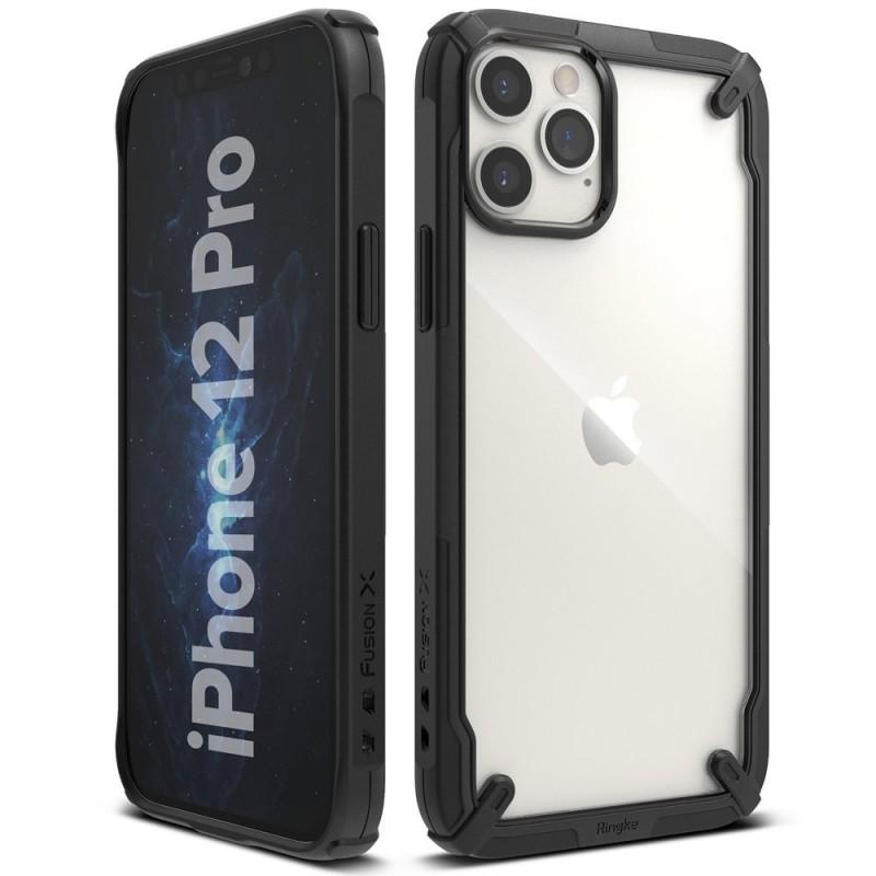 Husa iPhone 12 / iPhone 12 Pro - Ringke Fusion X, Neagra
