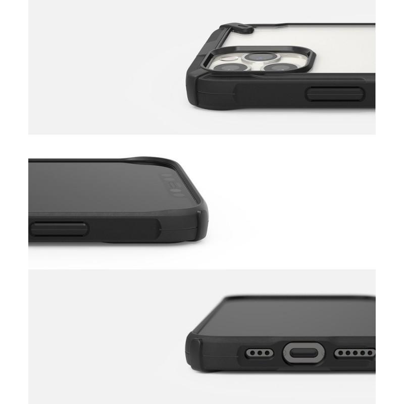 Husa iPhone 12 / iPhone 12 Pro - Ringke Fusion X, Neagra - 2