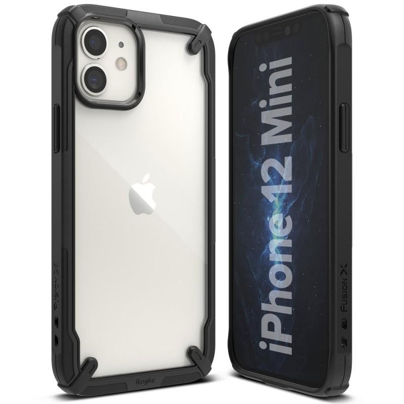 Husa iPhone 12 Mini - Ringke Fusion X, Neagra