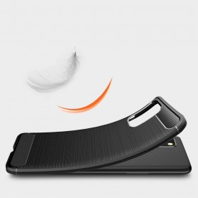 Husa Tpu Carbon Fibre pentru OnePlus 8T, Neagra  - 3