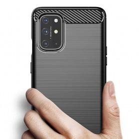 Husa Tpu Carbon Fibre pentru OnePlus 8T, Neagra  - 4