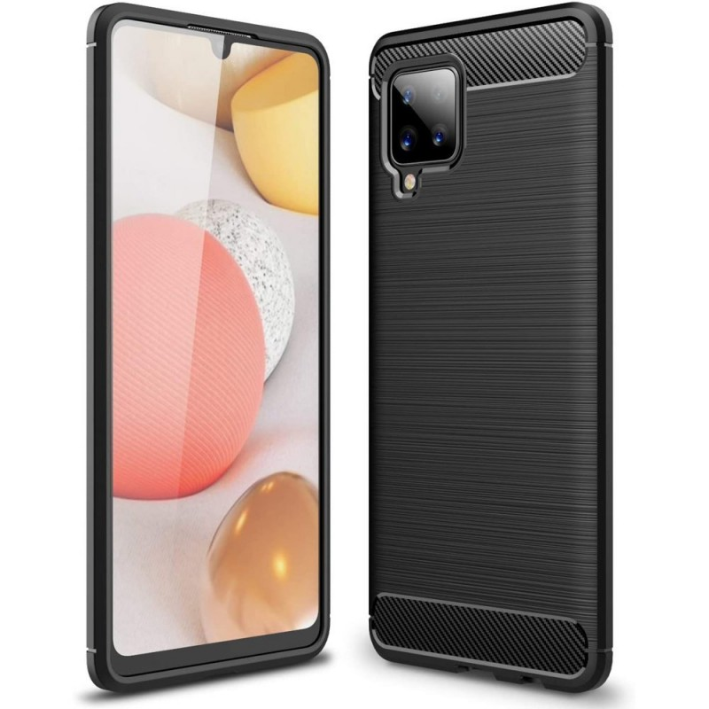Husa Tpu Carbon Fibre pentru Samsung Galaxy A42 5G, Neagra  - 1