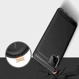 Husa Tpu Carbon Fibre pentru Samsung Galaxy A42 5G, Neagra  - 3
