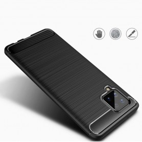 Husa Tpu Carbon Fibre pentru Samsung Galaxy A42 5G, Neagra  - 4
