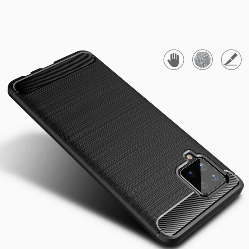 Husa Tpu Carbon Fibre pentru Samsung Galaxy A42 5G, Neagra - 2