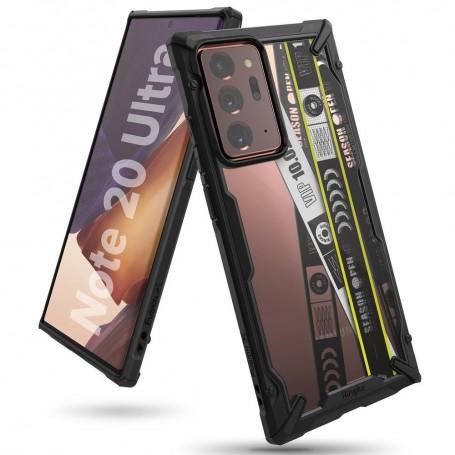 Husa Carcasa Spate pentru Samsung Galaxy Note 20 Ultra / Galaxy Note 20 Ultra 5G - Ringke Fusion X Design Ticket Band, Neagra la pret imbatabile de 88,99lei , intra pe PrimeShop.ro.ro si convinge-te singur