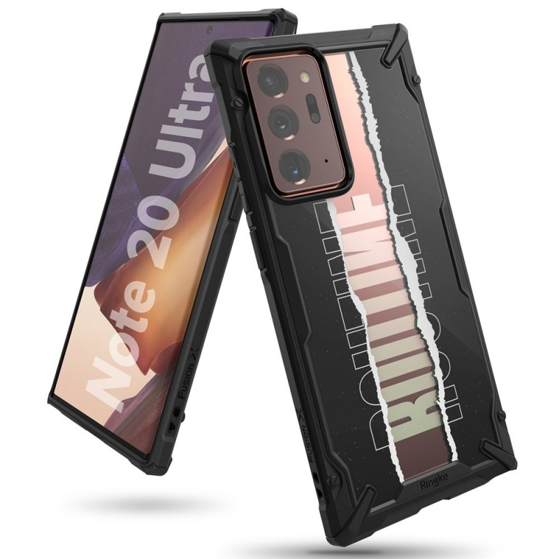 Husa Carcasa Spate pentru Samsung Galaxy Note 20 Ultra / Galaxy Note 20 Ultra 5G - Ringke Fusion X Design Routine, Neagra