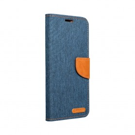 Husa Samsung Galaxy A02s - Flip Tip Carte Canvas  - 1