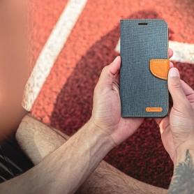 Husa Samsung Galaxy A02s - Flip Tip Carte Canvas  - 6