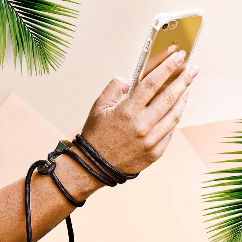 Husa Carcasa Spate transparenta cu snur negru pentru Samsung Galaxy A02s - 2