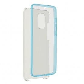 Husa Samsung Galaxy A42 5G - FullCover 360 (Fata + Spate), Transparenta cu margine Albastra  - 1