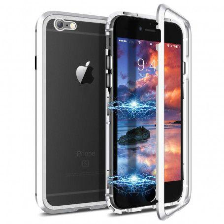 Husa Magnetica cu bumper din aluminiu si spate din sticla pentru iPhone 6 Plus / 6S Plus la pret imbatabile de 54,90lei , intra pe PrimeShop.ro.ro si convinge-te singur