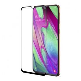 Folie Protectie Ecran pentru Samsung Galaxy A42 5G , Sticla securizata, Neagra  - 1