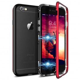 Husa Magnetica cu bumper din aluminiu si spate din sticla pentru iPhone 6 / 6S  - 2