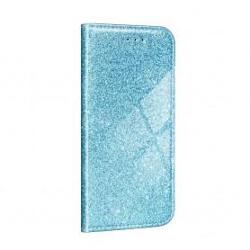 Husa Samsung Galaxy A12 - Flip tip Carte - Shining Sclipici  - 3