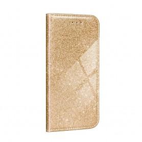 Husa Samsung Galaxy A12 - Flip tip Carte - Shining Sclipici  - 4