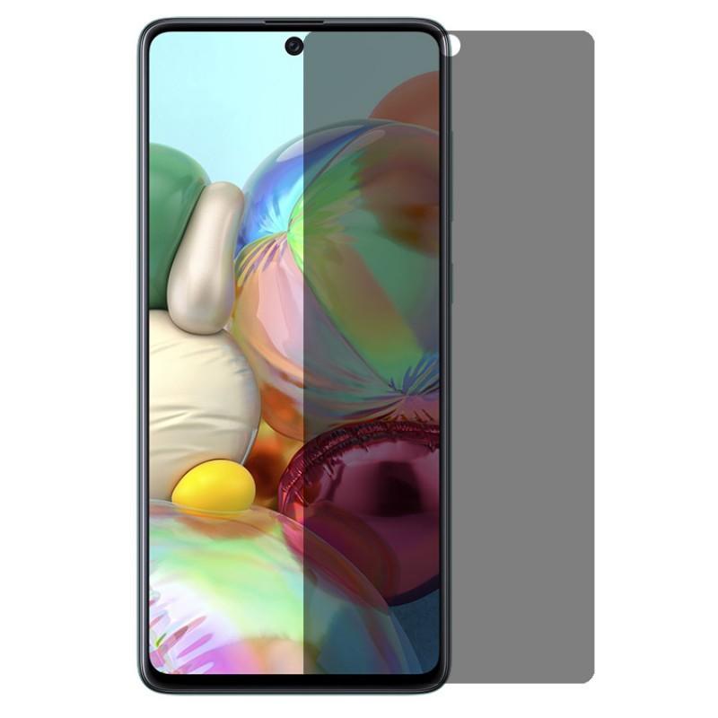 Folie protectie Samsung Galaxy A52 4G / A52 5G, sticla securizata, Privacy Anti Spionaj, Neagra  - 1