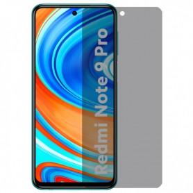 Folie protectie Xiaomi Redmi Note 9S / Redmi Note 9 Pro, sticla securizata, Privacy Anti Spionaj, Neagra  - 1