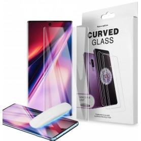 Folie Protectie Ecran din Sticla pentru Samsung Galaxy Note 10+ Plus, UV Glue 9H Cu Lampa Si Adeziv Lichid - Clear  - 1