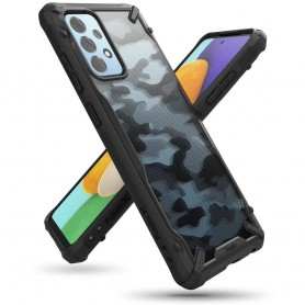 Husa Carcasa Spate Samsung Galaxy A52 4G / A52 5G - Ringke Fusion X Design - Camo Black  - 1