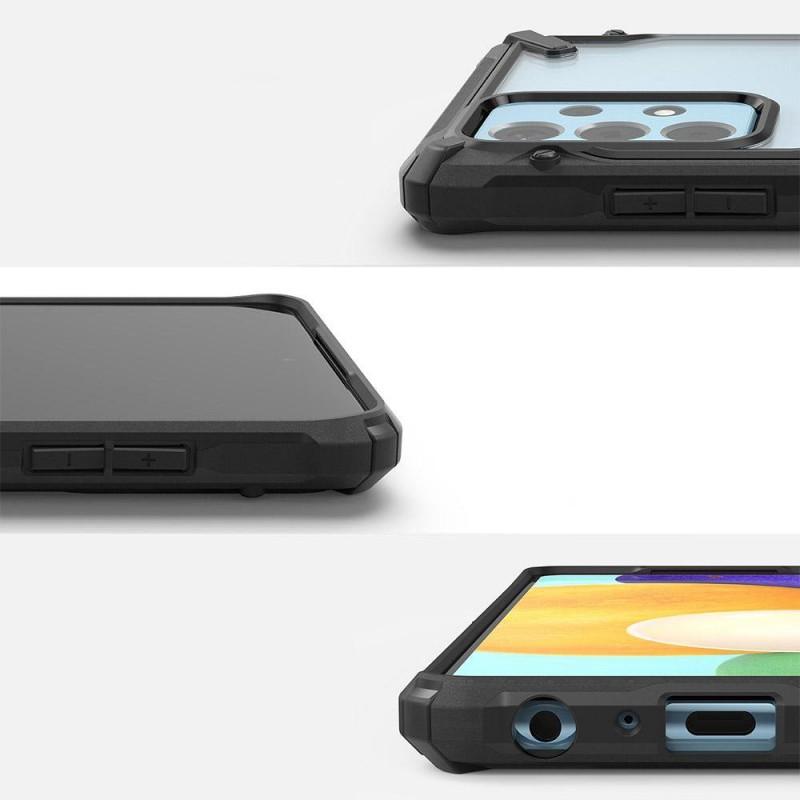 Husa Carcasa Spate Samsung Galaxy A52 4G / A52 5G - Ringke Fusion X Design - Camo Black - 2