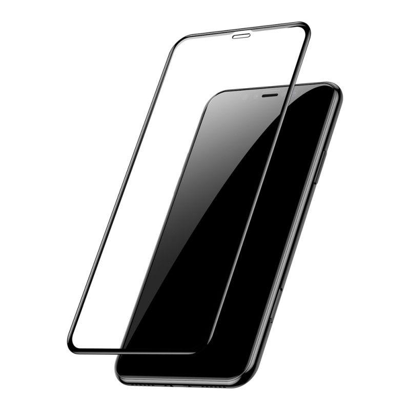 Folie Protectie Ecran pentru iPhone XS Max / iPhone 11 Pro Max - (6,5 inchi), Sticla securizata, Full 3D 0.33mm, Negru
