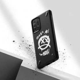 Husa Carcasa Spate Samsung Galaxy A72 - Ringke Onyx Design - Graffiti  - 3