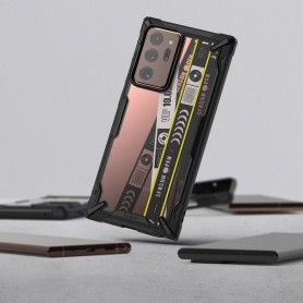 Husa Carcasa Spate pentru Samsung Galaxy Note 20 / Galaxy Note 20 5G - Ringke Fusion X Design Ticket Band, Neagra Ringke - 4
