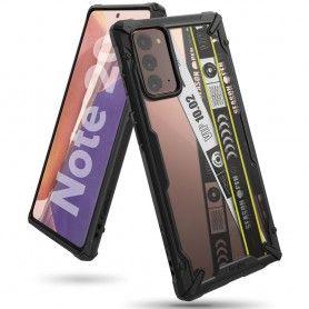 Husa Carcasa Spate pentru Samsung Galaxy Note 20 / Galaxy Note 20 5G - Ringke Fusion X Design Ticket Band, Neagra Ringke - 1