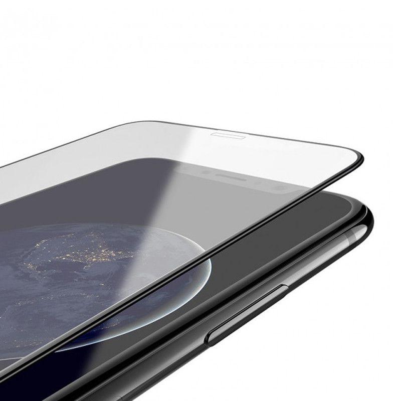 Folie Protectie Ecran pentru iPhone XS Max / iPhone 11 Pro Max - (6,5 inchi), Sticla securizata, Full 3D 0.33mm, Negru - 2