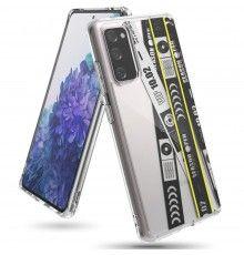 Husa Carcasa Spate pentru Samsung Galaxy S20 FE / Galaxy S20 FE 5G - Ringke Fusion X Design Ticket Band, Transparenta Ringke - 1