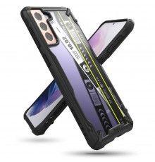Husa Carcasa Spate pentru Samsung Galaxy S21 4G / Galaxy S21 5G - Ringke Fusion X Ticket Band, Neagra Ringke - 1