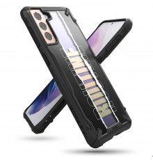 Husa Carcasa Spate pentru Samsung Galaxy S21 4G / Galaxy S21 5G - Ringke Fusion X Routine Design, Neagra Ringke - 1