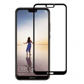 Folie Protectie Ecran pentru Huawei P20 Lite, Sticla securizata, 3D 0.33mm, Negru  - 1