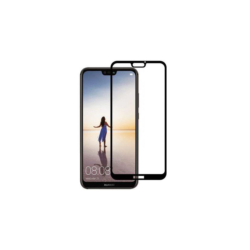 Folie Protectie Ecran pentru Huawei P20 Lite, Sticla securizata, 3D 0.33mm, Negru
