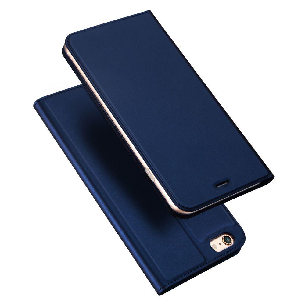 Husa Flip Tip Carte Dux Ducis Skin Pro pentru iPhone 5 / 5S / SE , Midnight Blue