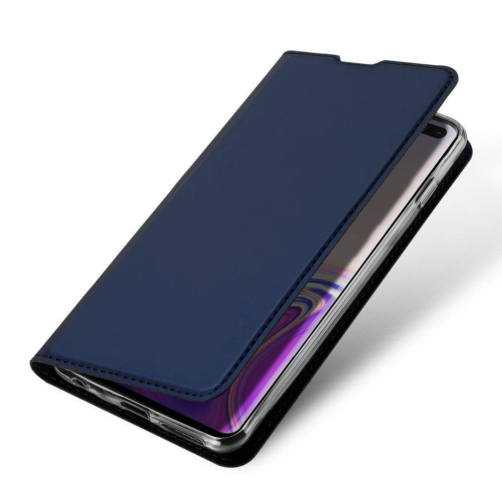 Husa Flip Tip Carte DuxDucis Skin Pro pentru Samsung Galaxy S10+ Plus , Midnight Blue