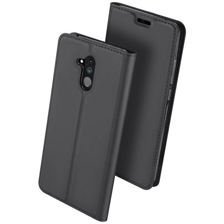 Husa Flip Tip Carte DuxDucis Skin Pro pentru Huawei Mate 20 Lite , Gri