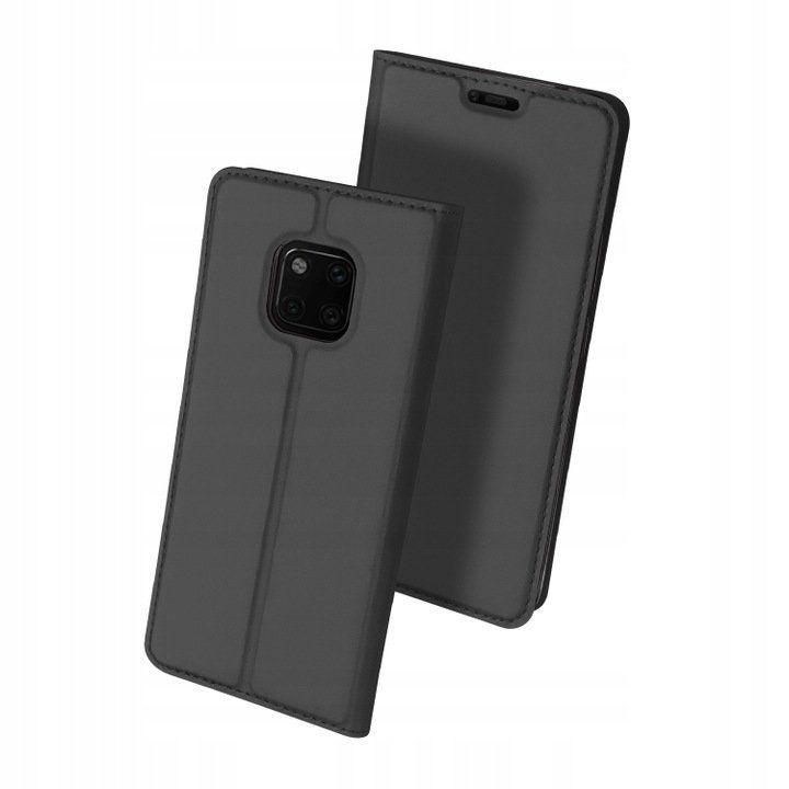 Husa Flip Tip Carte DuxDucis Skin Pro pentru Huawei Mate 20 Pro , Gri
