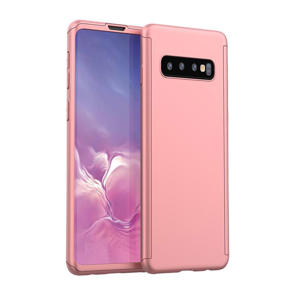 Husa 360 Protectie Totala Fata Spate pentru Samsung Galaxy S10+ Plus, Rose Gold